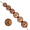 Czech Glass Pearls 8In Strand Combo 10-16mm (13pcs)bronze